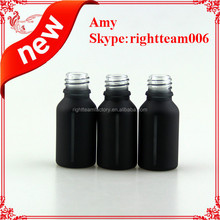 New design 15ml round black bottle with window looks cool ---see through the bottles
