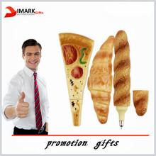 Promotion gift Pizza shape pen/ plastic bread shape pen/magnetic pizza shape ball pen