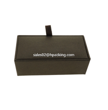 Custom High End Jewelry Packaging Plastic Cufflink Box Velvet Lining