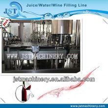 Glass bottled grape wine filling factory 3 in 1