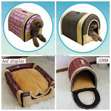 FOLDABLE Outdoor Pet Kennel Bed Cozy Dog/Cat Puppy bed Durable House sz S/M