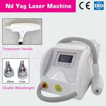 venta caliente q switched nd yag láser retiro del tatuaje máquina