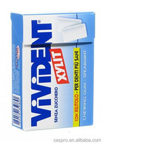 vivident sugar free box packaged chewing gum