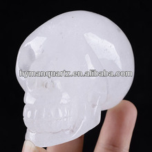 Special Natural Clear Rock Quartz Crystal Skulls,Natural clear quartz skull,White crystal skull