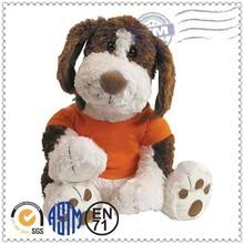 de alta calidad personalizados impreso el logotipo de animales de peluche del perro del juguete