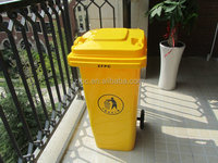 120L plastic dustbin/ plastic garbage bin /dustbin with wheels and cover