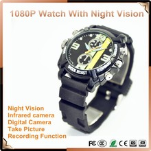 Motion Detect camera recorder Support IR Night Vision 1080P HD DV Watch Camera Portable DVR Watch Type