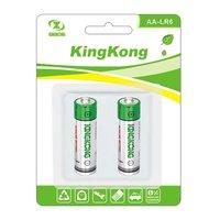 LR6 size AA 1.5 dry Alkaline Battery 1.5V Dry Battery Blister card packing