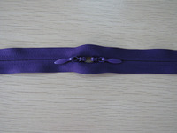 Manufacture supply closed end two slider two way nylon invisible zipper
