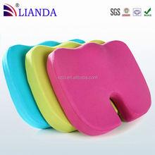 High Density Premium Memory Foam features a U-shaped cutout gel cushion