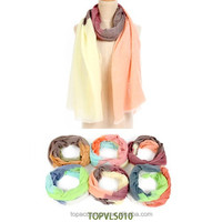 2015 the newest fashion graduated color travel scarf for women