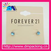 Black color factory made custom plastic custom printed earring cards