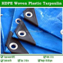 Professional woven fabric HDPE laminated tarpaulin, waterproof plastic tarps