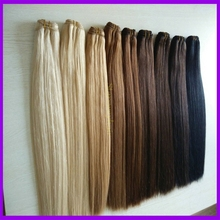 Grade 4a virgin straight peruvian hair remy human hair weft color 350