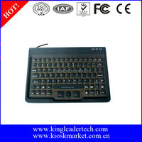 Waterproof slim silicone keyboard with built-in mouse and 85keys