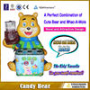 coin operated Candy Bear whac a mole kids electric hammer game machine