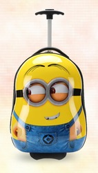 Hot Sale Minions ABS&PC Luggage for Kids Cute Kids Schoolbag