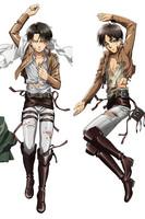 New Attack on Titan Shingeki no Kyojin Anime Dakimakura Cheap Life Size Pillow Case 3 Wholesale Dropship