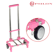 Taiwan Upsilon low price steel foldable luggage hand cart with wheels