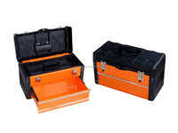 Hand Carry Iron Tool Box With Drawer 49.7x25.3x28.9cm