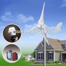 300w turbina de vento pequena + vento solar contrloler preço quente para casa