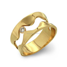 Customized Size 50 PCS Mix Size Stainless Steel Men Gold Rings