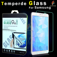 9h tempered glass screen film protectors two-way privacy screen protectors for samsung galaxy tab 4 10.1, no sticky adhesive