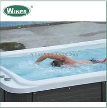 2015 popular designs family deluxe massage mini outdoor swimming pool