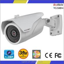 Top Sale AHD CAMERA 720P resolution 1.3MP CMOS Sensor 3.6mm lens 36pcs quality black IR LEDS Outdoor waterproof bullet camera