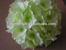 Boda suministra flores de seda de hortensia verde