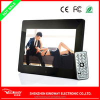 Hot selling factory price 10 Inch Digital LCD Photo Picture Movies Frame Alarm Clock MP3 MP4 Player with Remote Control