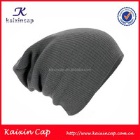 custom black acrylic winter knitted wool hat/knitted hat for man/high quality beanie cap