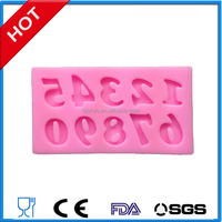 silicone fondant mold numbers pattern for cake decorations