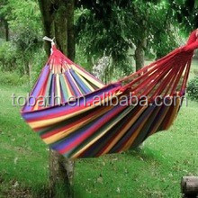 Double Canvas Hammocks portable hammock With Stand For Family/stainless steel hammock stand