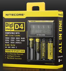 NITECORE D4 Digicharger Quad charger For AA 26650 18650 14500 IMR Li-ion LiFeP04