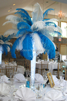 Party decoration wedding decoration turquoise blue white ostrich feather