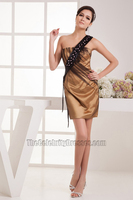 Sheath Column Beaded One Shoulder Party Homecoming Dresses