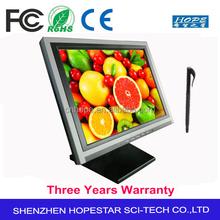 POS ATM DVI USB VGA 15 inch Resistive Touch Screen Monitor