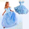 Vestido de cumpleaños para la niña cenicienta vestidos para niñas niño qkc-2602