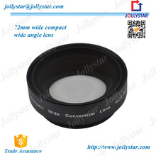 Universal Clip on Fish Eye Lens Wide Angle Lens With Black White Clips for Univeral Camera 72mm 0.8X