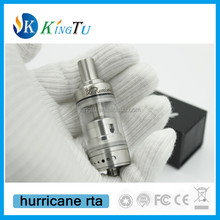 high quality 1:1 clone atomizer Hurricane RBA /the hurricane v1 RTA/black hurricane RDA