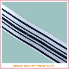 stripe elastic webbing white and black