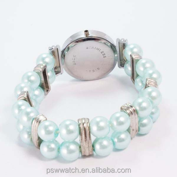 fashion women elastic strap watch genuine pearl beads pearl bracelet watch