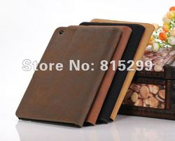 Retro book style flip wallet Leather Case for iPad Mini pu Wallet Leather case for iPad Mini