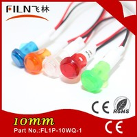 CE approved 10mm 12v 24v led blue and green replacement light bulbs auto lamps indicator signal light