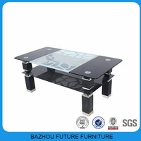 Modern design effective glass coffee table furniture in china