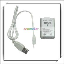 Hot!!! Video Game Battery And Charging Cable For Xbox360