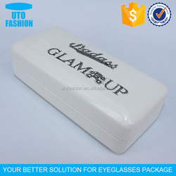 YT3138 Personalized embroidery logo pu leather glasses case