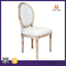 Tufted back louis french chaise lounge chair french style dining room chair