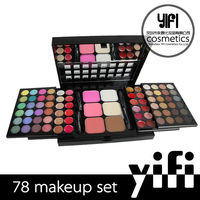 Cosmetics make your own brand 78colors push-pull eye shadow palette